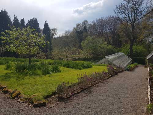 View towards the glasshouse